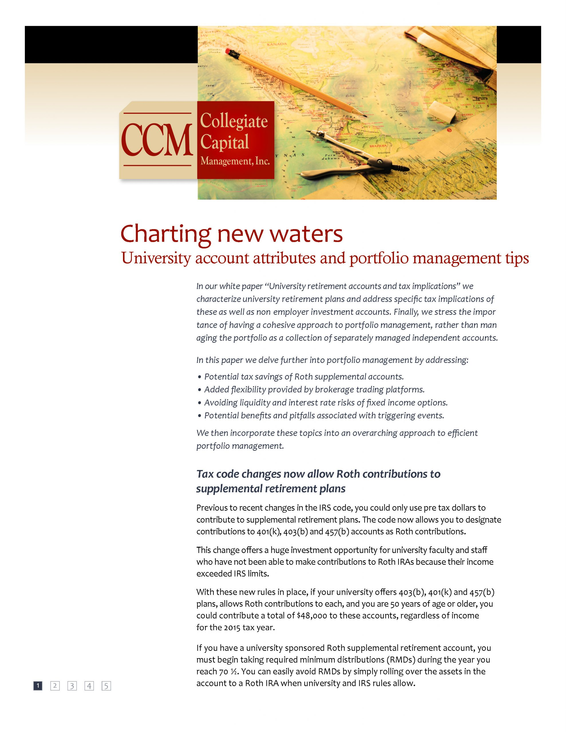 White Paper: Charting New Waters- University account attributes and portfolio management tips